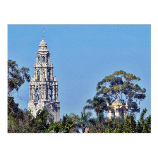 California Tower In Balboa Park San Diego Postcard