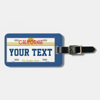 California traveler bag tag