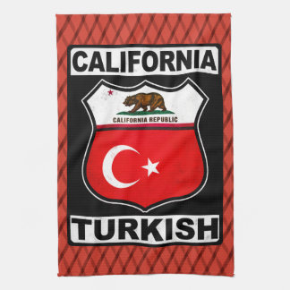 California Turkish American Tea Towel