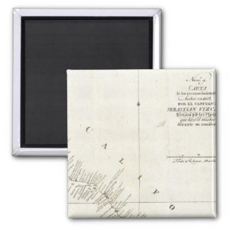 California Uncolored chart Square Magnet