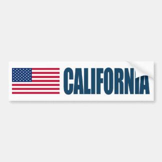 California US Flag Bumper Sticker