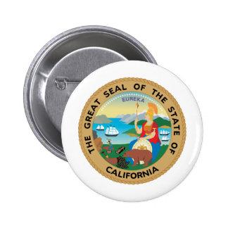 California, USA 6 Cm Round Badge