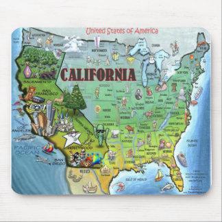 California USA Map Mouse Mat