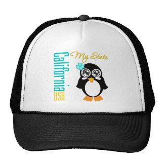 California USA Penguin Mesh Hat