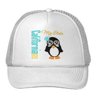 California USA Penguin Trucker Hat