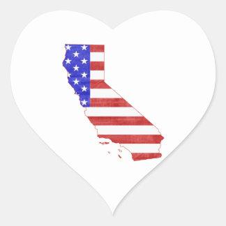 California USA silhouette state map Heart Sticker