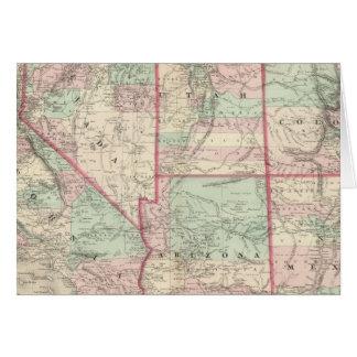 California, Utah, Nevada, Colorado Card
