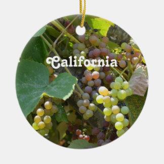 California Vineyards Christmas Ornament