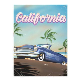 California Vintage Auto retro travel poster Stretched Canvas Prints