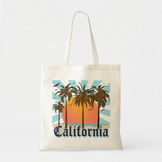 California Vintage Sunset Tote Bag