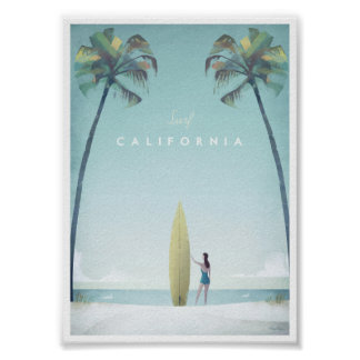 California Vintage Travel Poster
