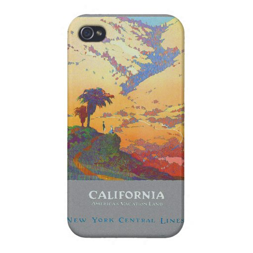 California Vintage Travel Poster iPhone 4 Cover