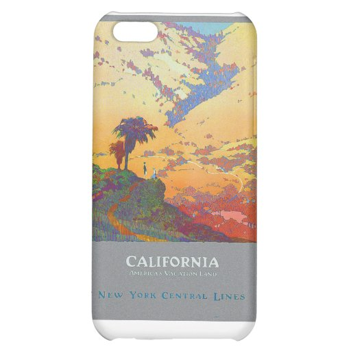 California Vintage Travel Poster Cover For iPhone 5C