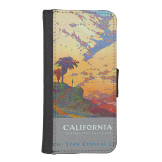 California Vintage Travel Poster Phone Wallet Cases