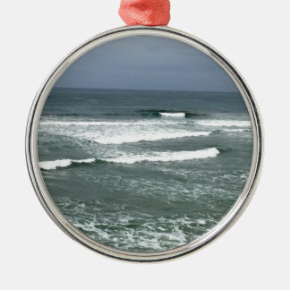 CALIFORNIA WAVES Silver-Colored ROUND DECORATION