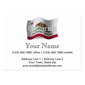 California Waving Flag Business Cards