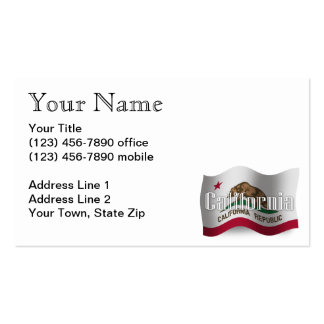 California Waving Flag Pack Of Standard Business Cards