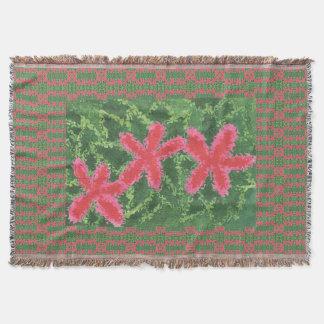 California Wildflowers: Pink 2 Throw Blanket