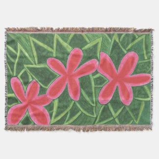 California Wildflowers: Pink Throw Blanket