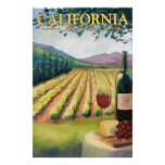 California Wine Country - Vintage Travel Poster