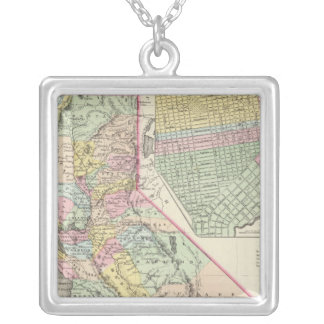 California with City of San Francisco Silver Plated Necklace
