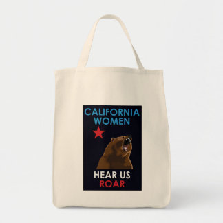 CALIFORNIA WOMEN HEAR US ROAR TOTE BAG