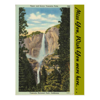 California, Yosemite Falls Postcard