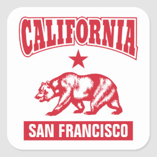 California - Your Home Town Customized Square Sticker