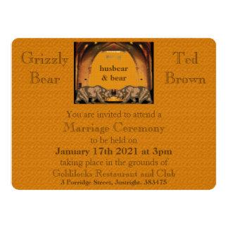 "Californian Bear Gay Wedding Invitation for Grooms 6.5"" X 8.75"" Invitation Card"