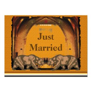 "Californian Bear Gay Wedding Reception Invitation 6.5"" X 8.75"" Invitation Card"