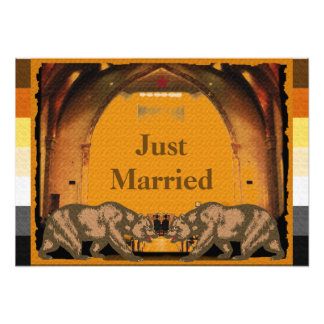 Californian Bear Pride Just Married Poster Photo Art