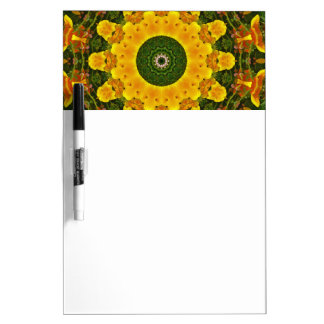 Californian Poppies Nature, Flower-Mandala Dry Erase White Board