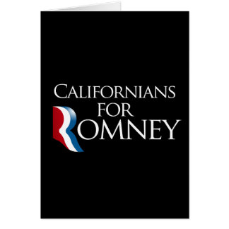 Californians for Romney-.png Greeting Card