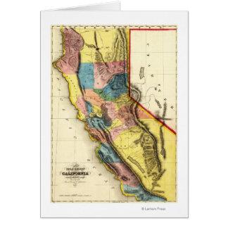 CaliforniaPanoramic Map Greeting Card