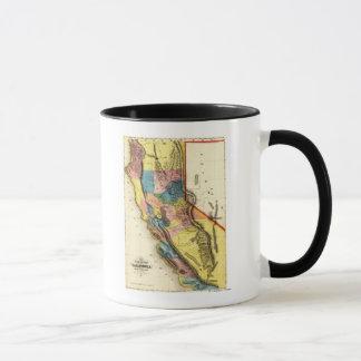 CaliforniaPanoramic Map Mug