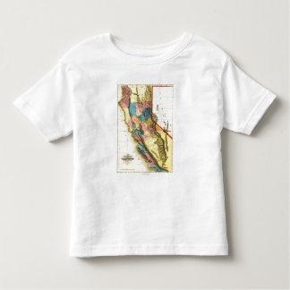 CaliforniaPanoramic Map Toddler T-Shirt