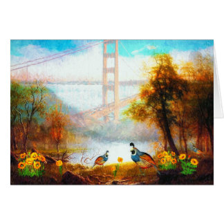 California's Golden View Painting Blank Card