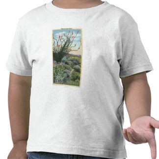 CaliforniaView of Cacti in Bloom T-shirts