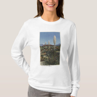 CaliforniaYucca Cacti in Bloom in Desert T-Shirt