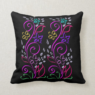 Caligraphy Flowers Cushion