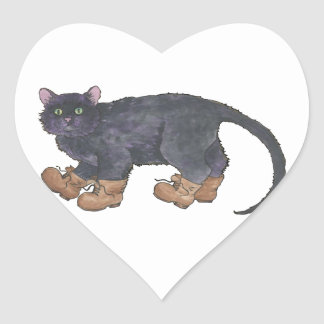 Caligula (Little Boots) Heart Sticker