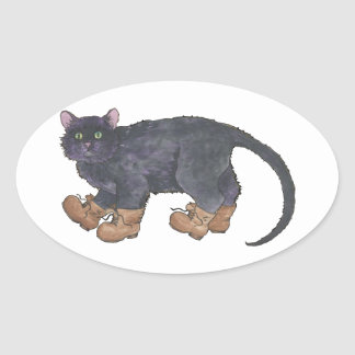 Caligula (Little Boots) Oval Sticker