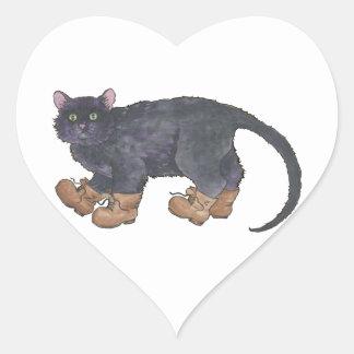 Caligula (Little Boots) Heart Sticker