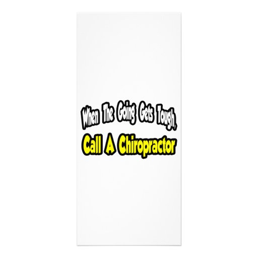 Call a Chiropractor Customized Rack Card