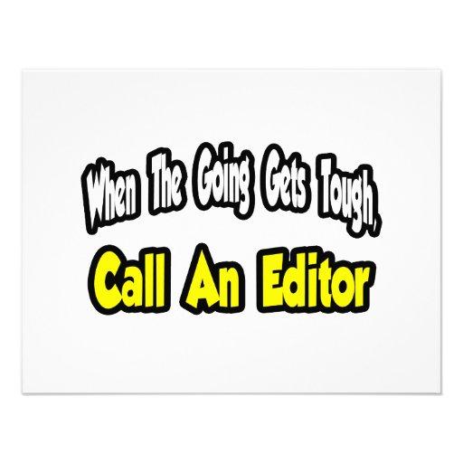 Call an Editor Custom Announcements