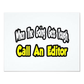 Call an Editor 11 Cm X 14 Cm Invitation Card