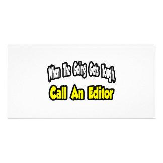 Call an Editor Photo Card Template