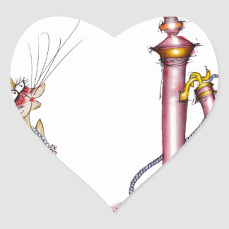 call me - a wonderful cat cartoon, tony fernandes heart sticker