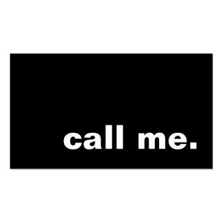 call me. Double-Sided standard business cards (Pack of 100)