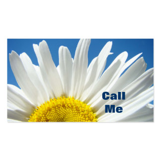 Call Me Business Cards custom Daisy Flowers